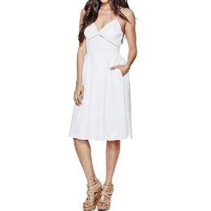 Guess Gia White Lace Midi Dress